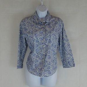 Talbots Floral Button down Shirt, Sz M